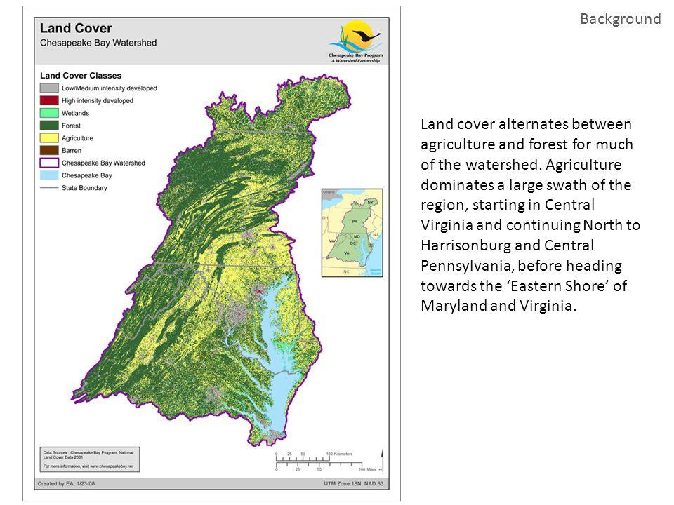 Feedlots in northwestern Virginia feedlots cropland Albers Equal Area USGS