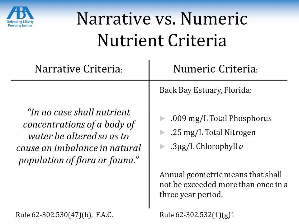 Narrative vs.