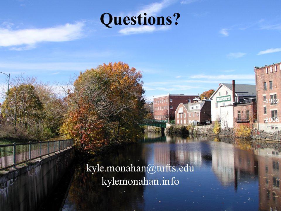 Questions kyle.monahan@tufts.edu kylemonahan.info 1992 2006