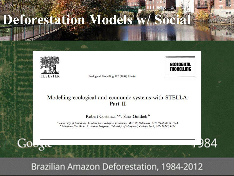 Deforestation Models w/ Social ENVR | E-147 | International Environmental Governance