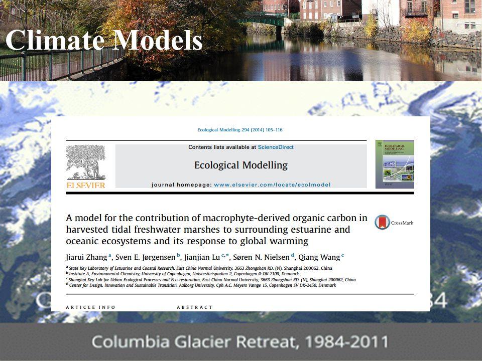 Climate Models ENVR | E-147 | International Environmental Governance