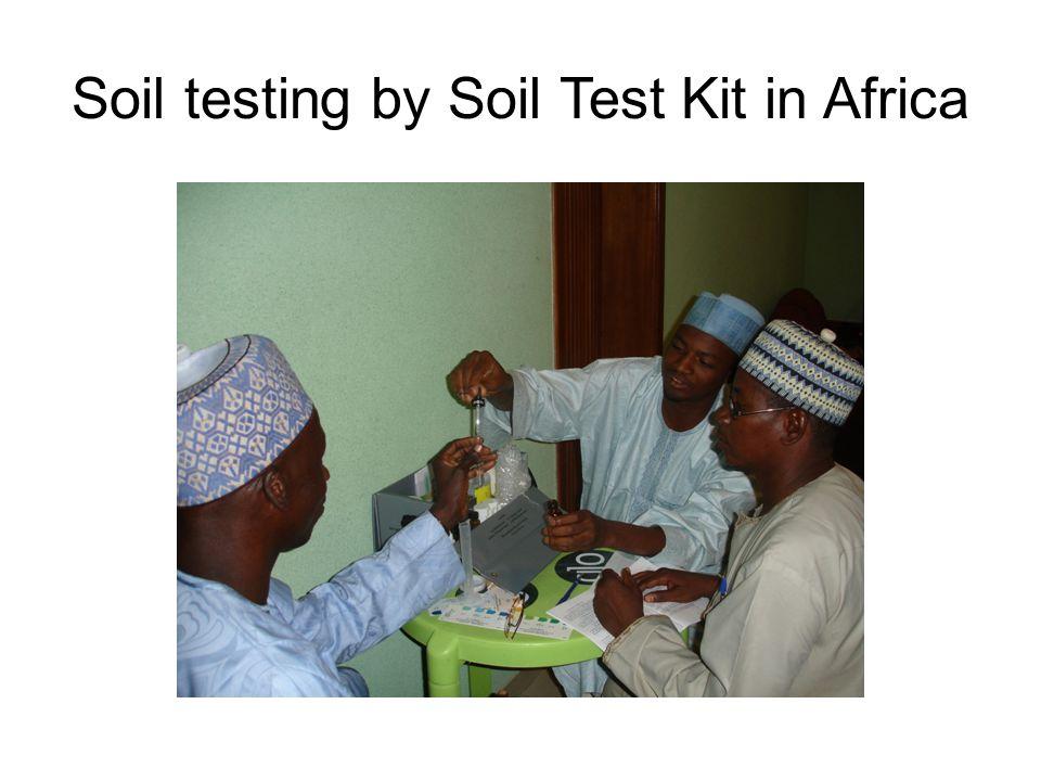 Soil testing by Soil Test Kit in Africa