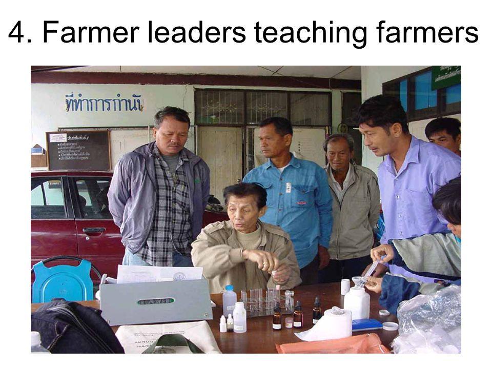 4. Farmer leaders teaching farmers