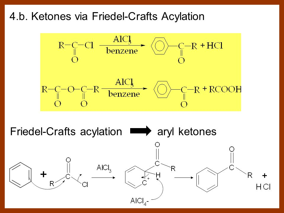 4.b. Ketones via Friedel-Crafts Acylation Friedel-Crafts acylation aryl ketones