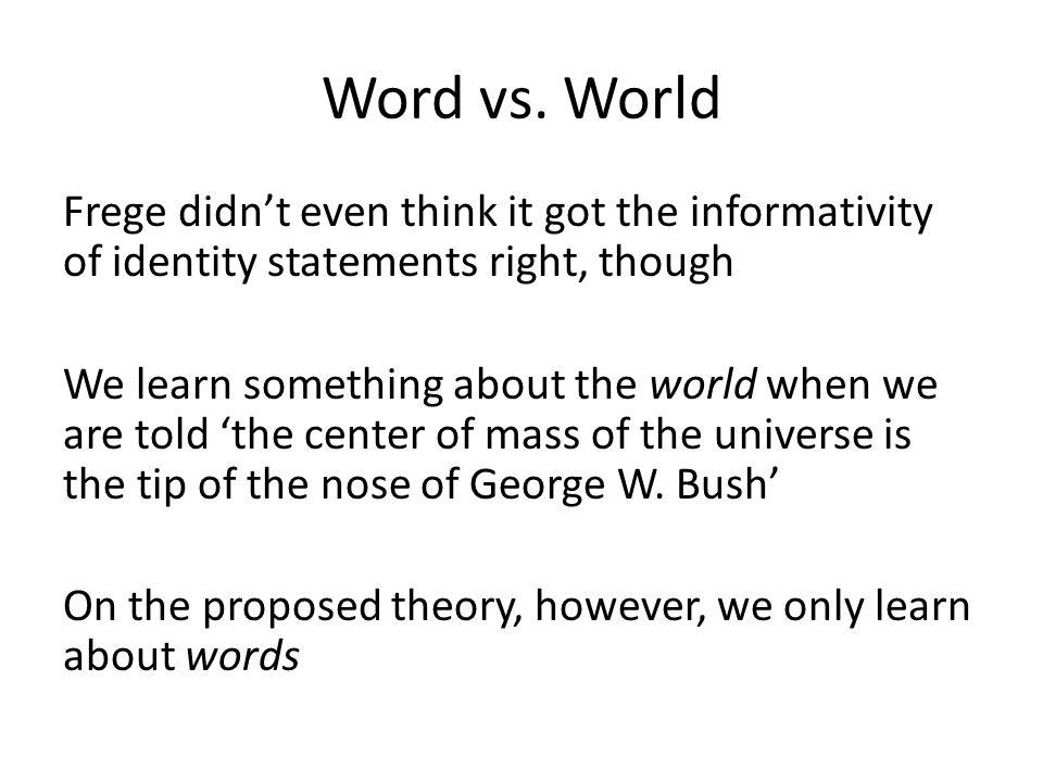 Word vs.