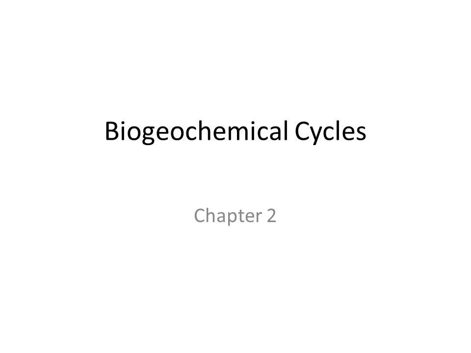 Biogeochemical Cycles Chapter 2
