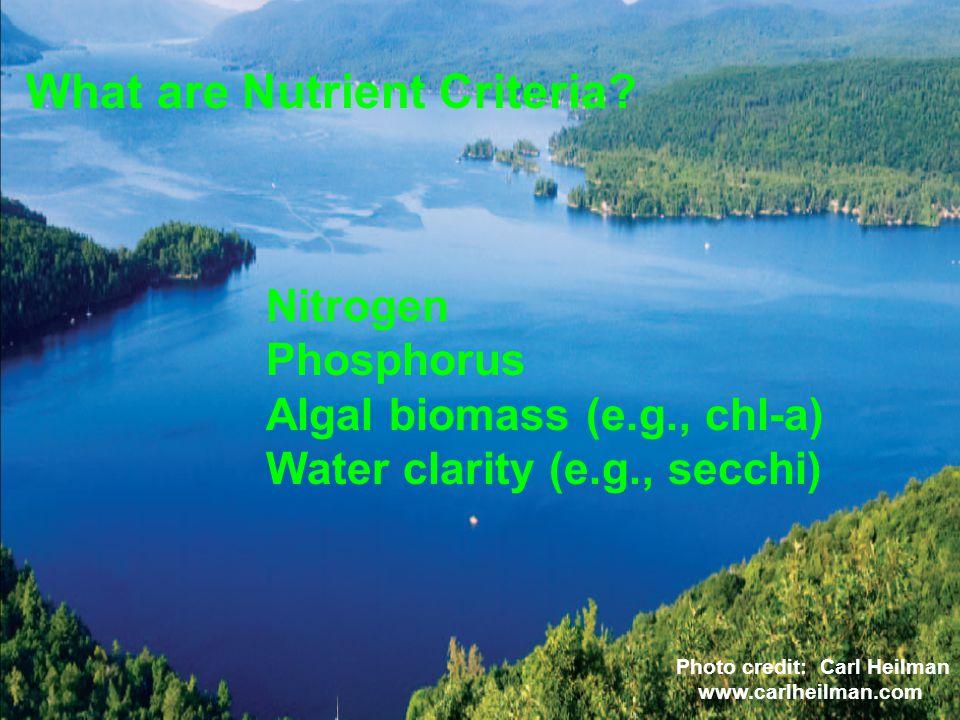 What are Nutrient Criteria.