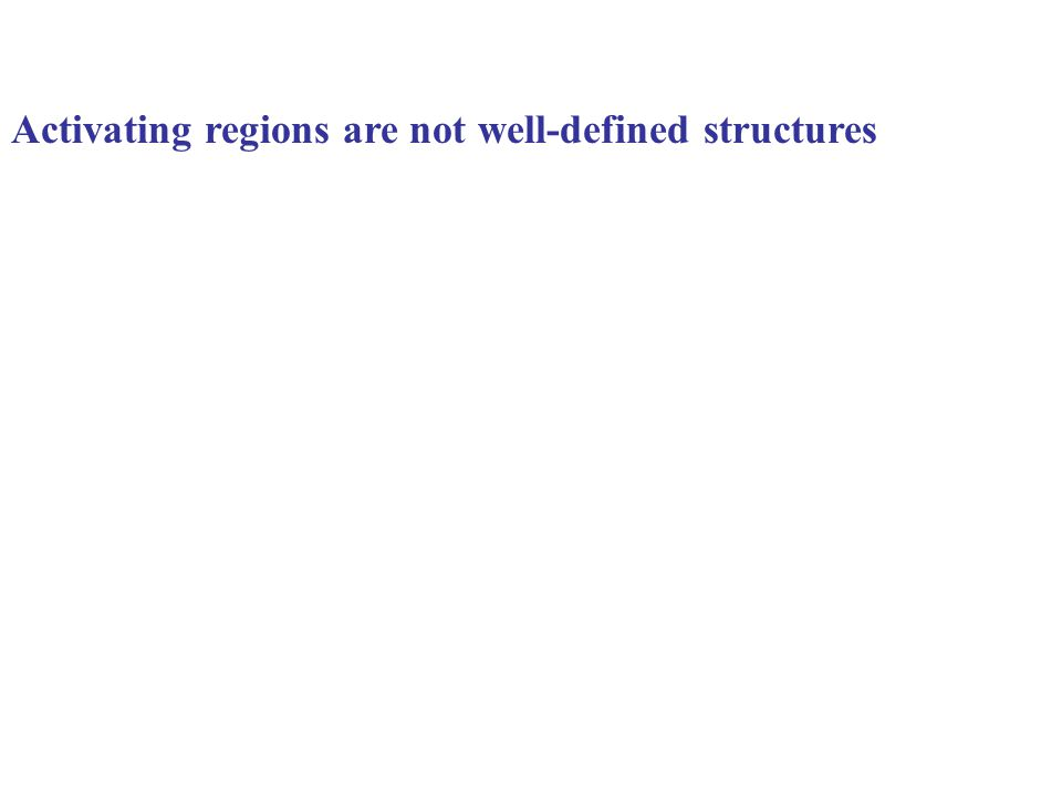 Activating regions are not well-defined structures