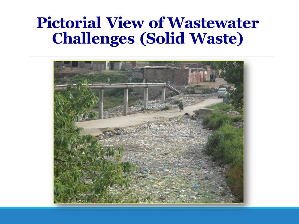 Pictorial View of Wastewater Challenges (Solid Waste)