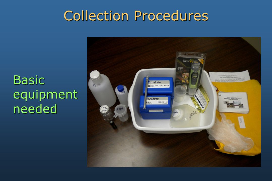 Basicequipmentneeded Collection Procedures