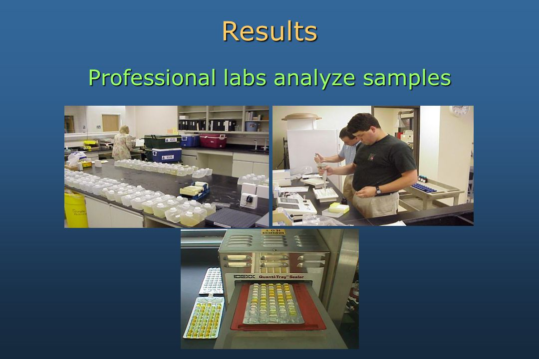 Results Professional labs analyze samples
