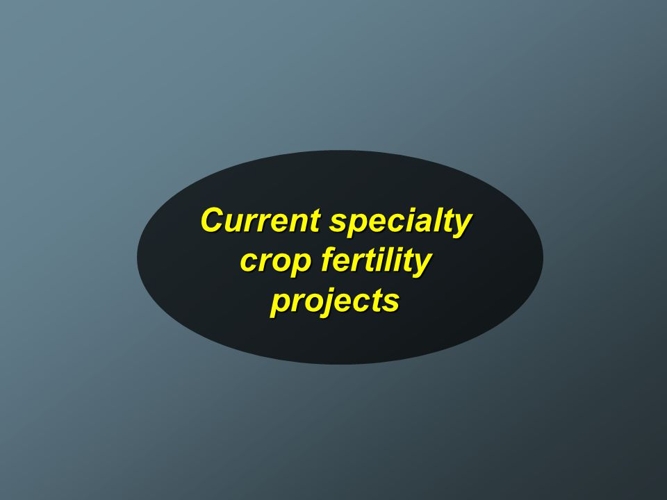 Current specialty crop fertility projects