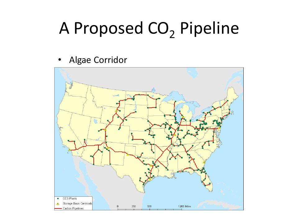 A Proposed CO 2 Pipeline Algae Corridor