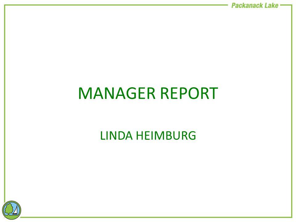 MANAGER REPORT LINDA HEIMBURG