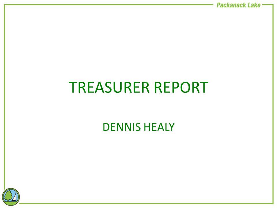 TREASURER REPORT DENNIS HEALY