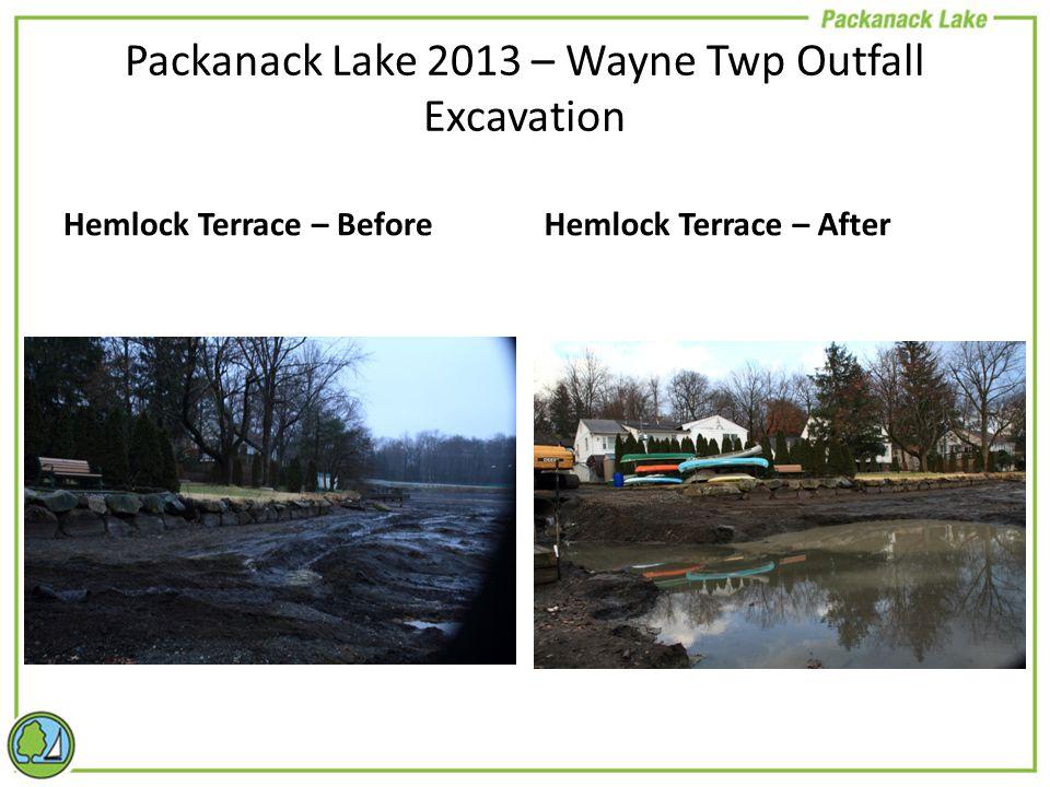 Hemlock Terrace – BeforeHemlock Terrace – After Packanack Lake 2013 – Wayne Twp Outfall Excavation