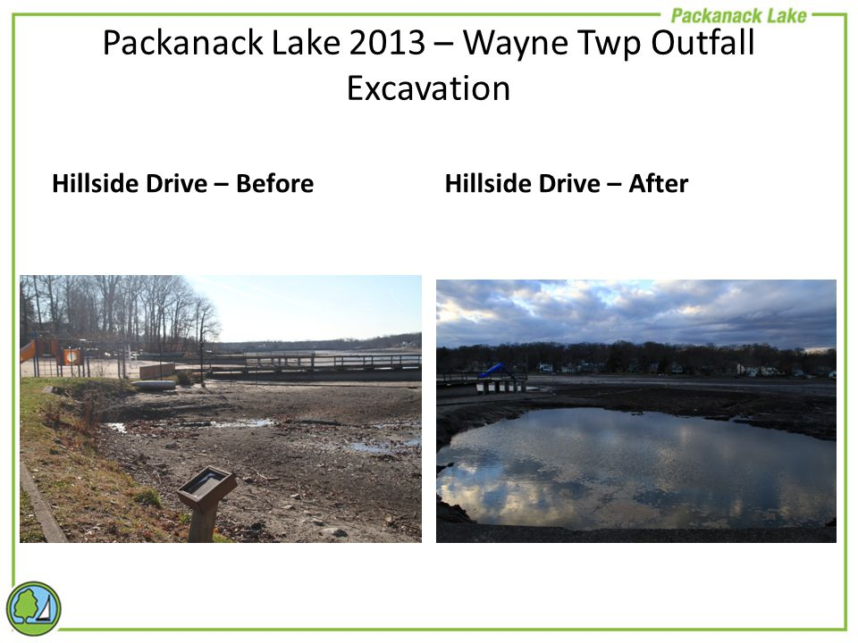 Hillside Drive – BeforeHillside Drive – After Packanack Lake 2013 – Wayne Twp Outfall Excavation