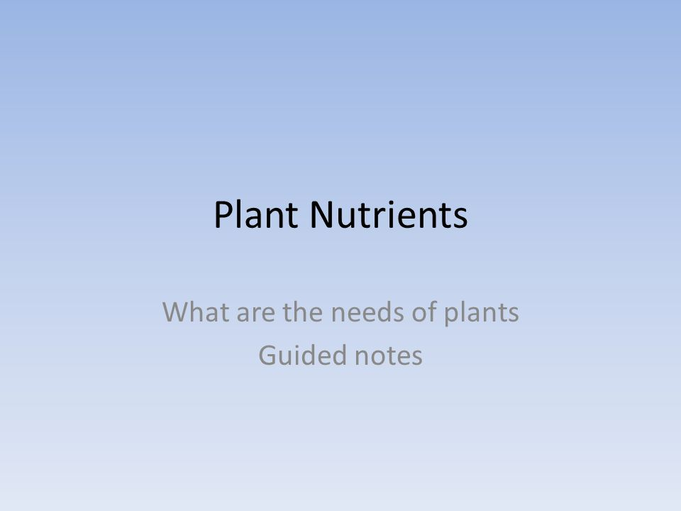 What is another name for micronutrients? Trace elements