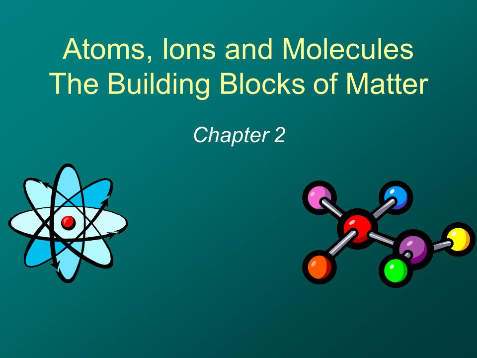 Atoms, Ions and Molecules The Building Blocks of Matter Chapter 2