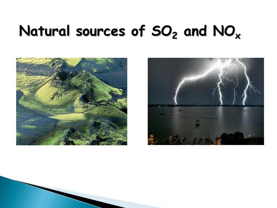Natural sources of SO 2 and NO x