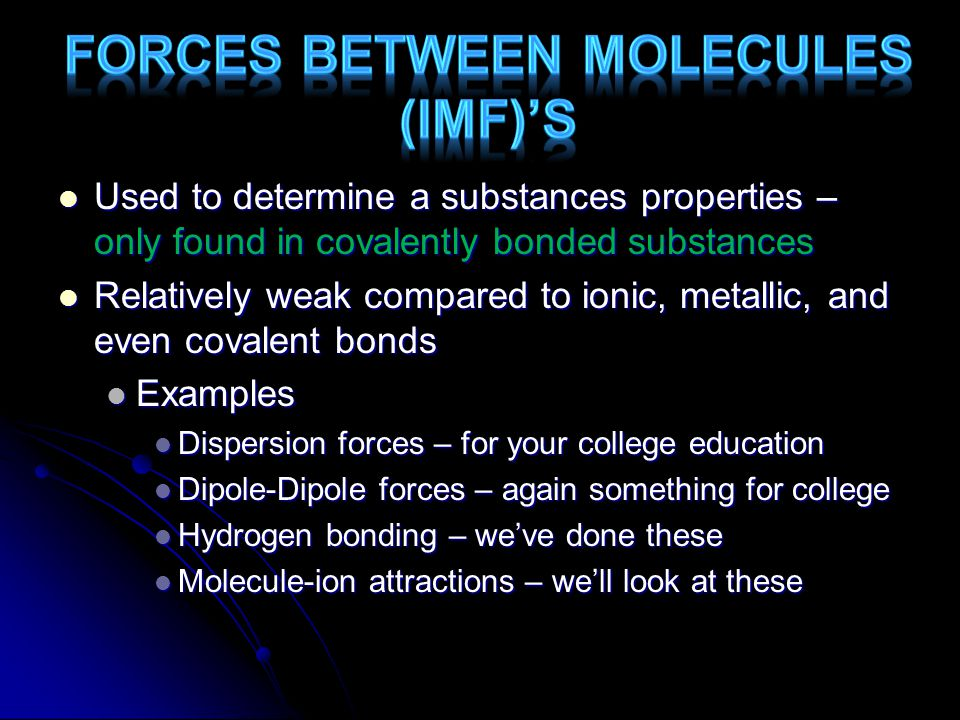SolutionIn solution, ions separate Ions are free to move, conducts electricity Dissociate Covalent SolidDoesn't conduct electricityNo charged particle