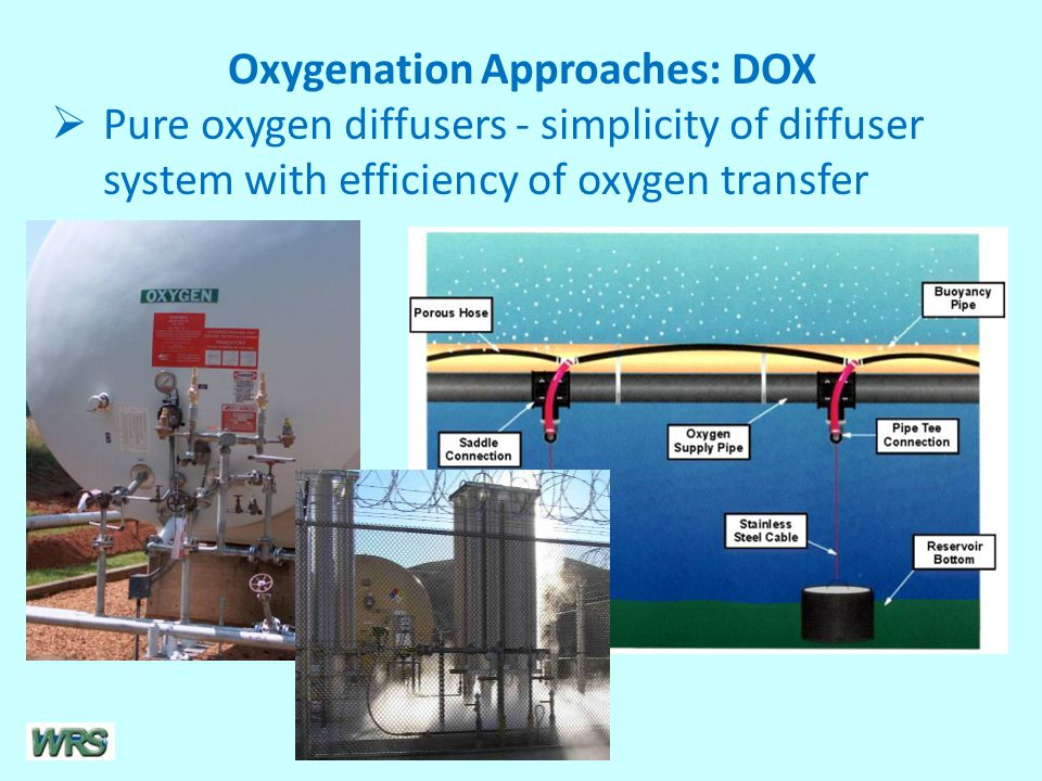 Oxygenation Approaches: DOX  Pure oxygen diffusers - simplicity of diffuser system with efficiency of oxygen transfer
