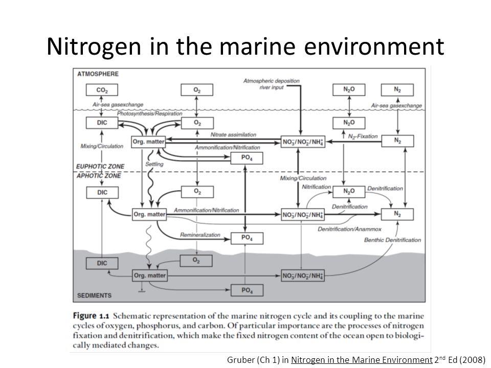 Nitrogen in the marine environment Gruber (Ch 1) in Nitrogen in the Marine Environment 2 nd Ed (2008)