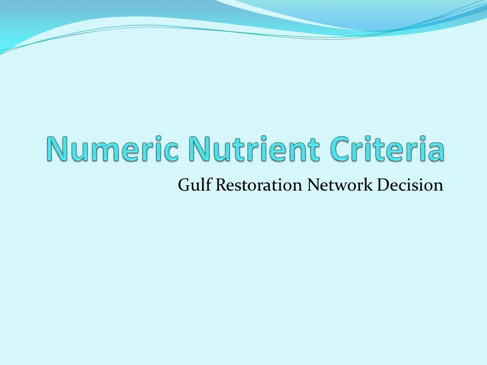 Gulf Restoration Network Decision