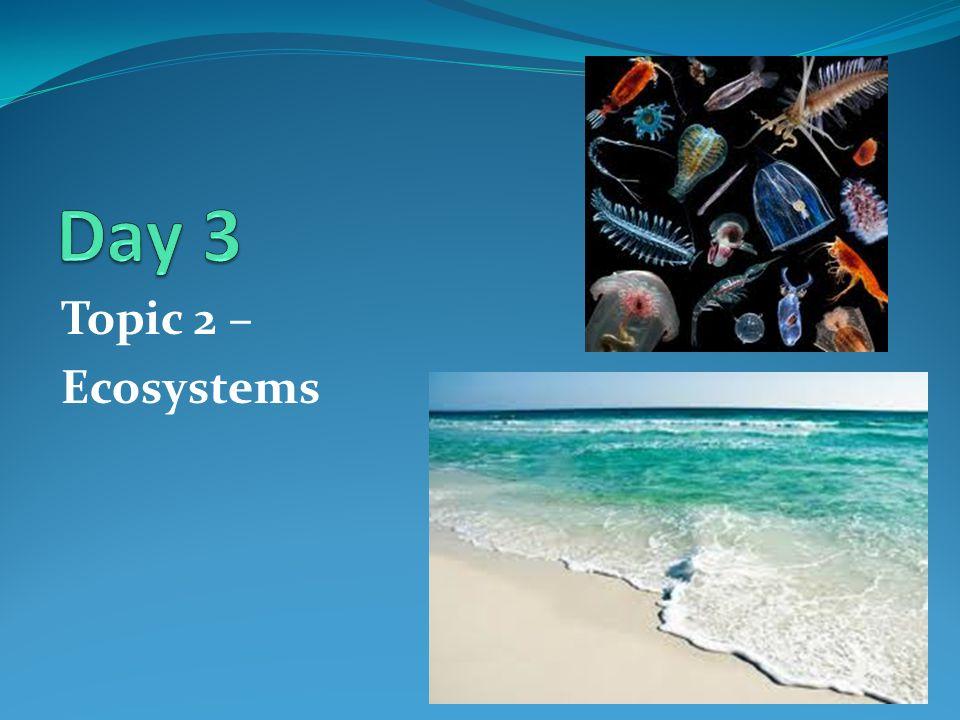 Topic 2 – Ecosystems