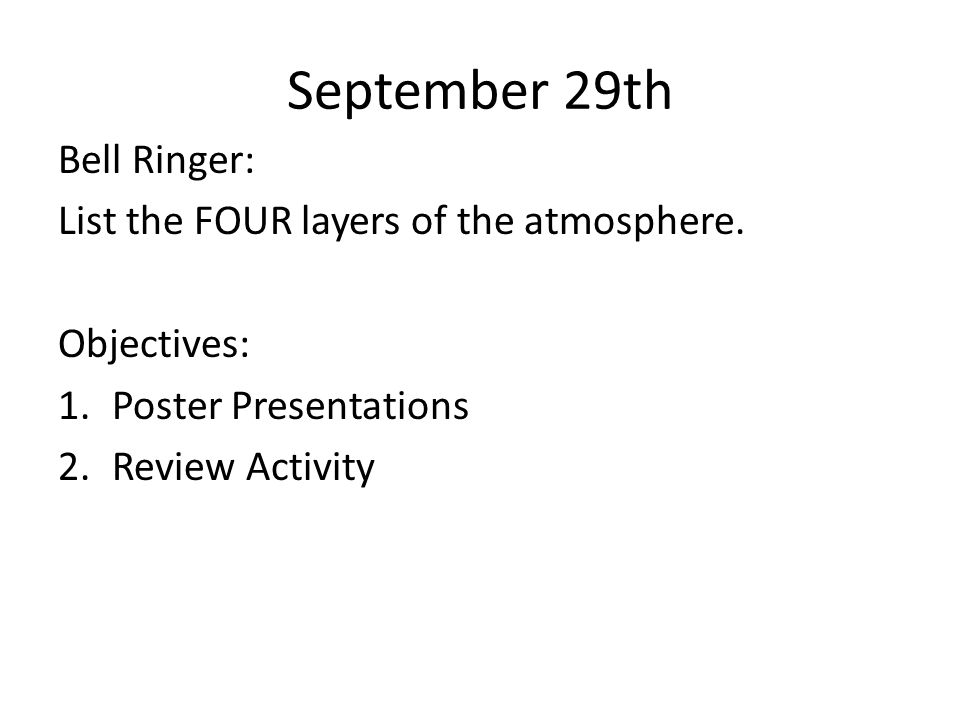 October 30 th Bell Ringer: What is an ecosystem.10/27:Define species.