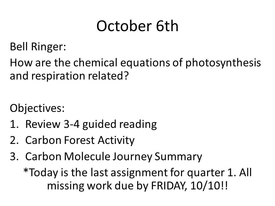 October 9 th : SUB LESSON PLAN.