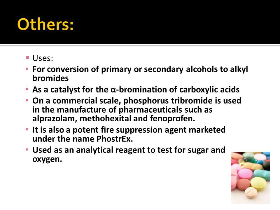  http://en.wikipedia.org/wiki/Phosphorus_trib romide http://en.wikipedia.org/wiki/Phosphorus_trib romide  http://www.answers.com/topic/phosphorus- tribromide#ixzz1JnALyT4chttp://www.answers.com/topic/phosphorus- tribromide#ixzz1JnALyT4c