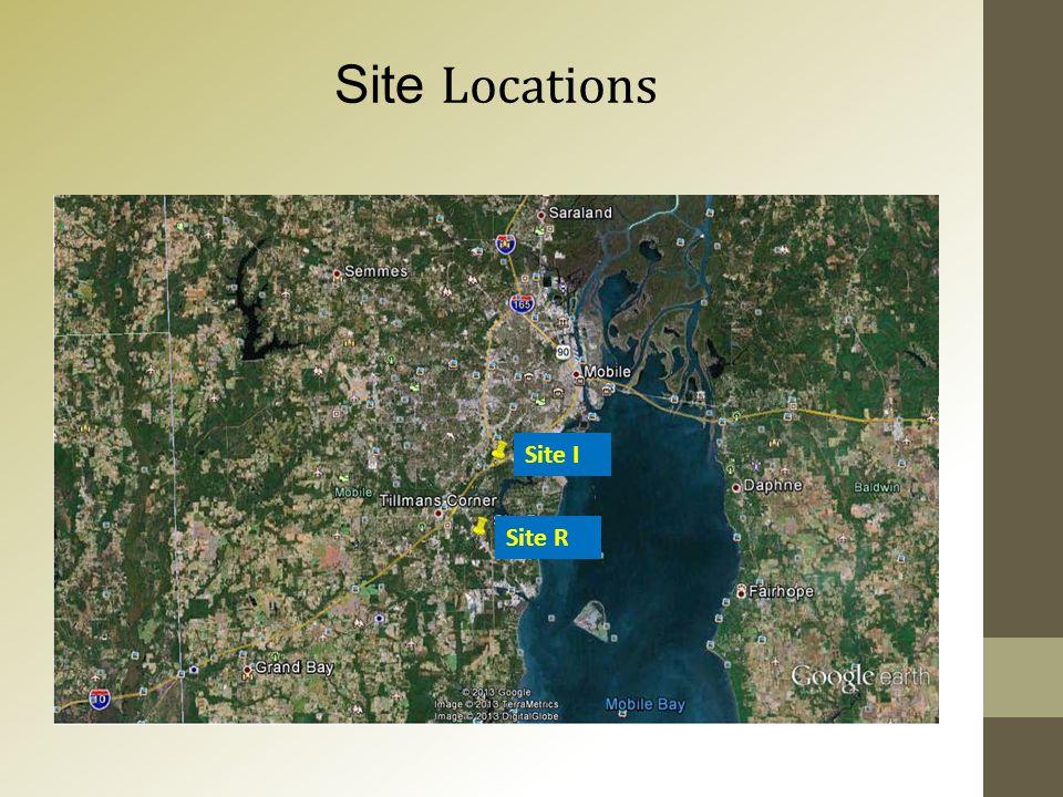Site Locations Site I Site R