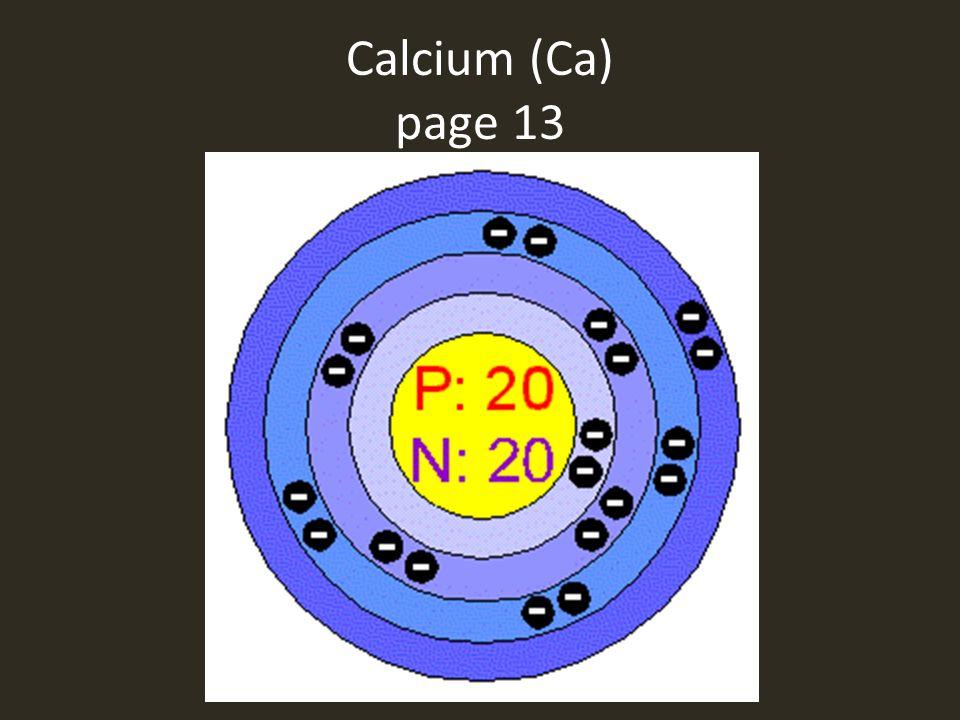 Calcium (Ca) page 13