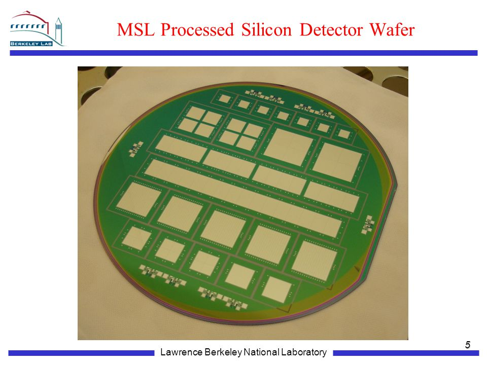 Lawrence Berkeley National Laboratory MSL Processed Silicon Detector Wafer 5