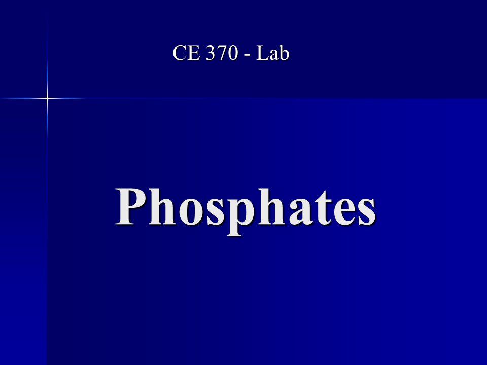 Phosphates CE 370 - Lab