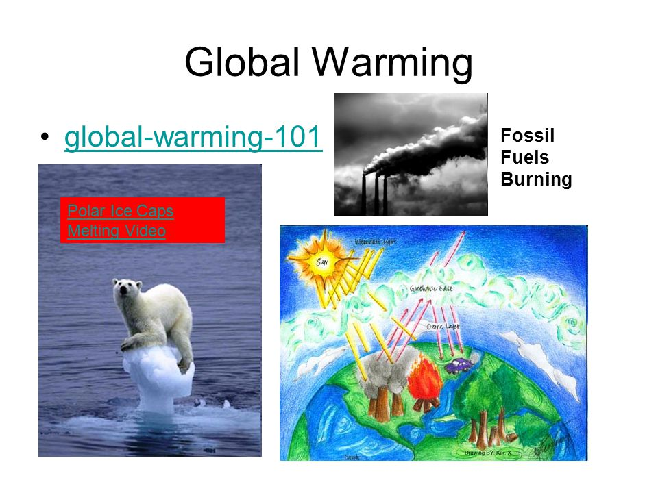 Global Warming global-warming-101 Polar Ice Caps Melting Video Fossil Fuels Burning