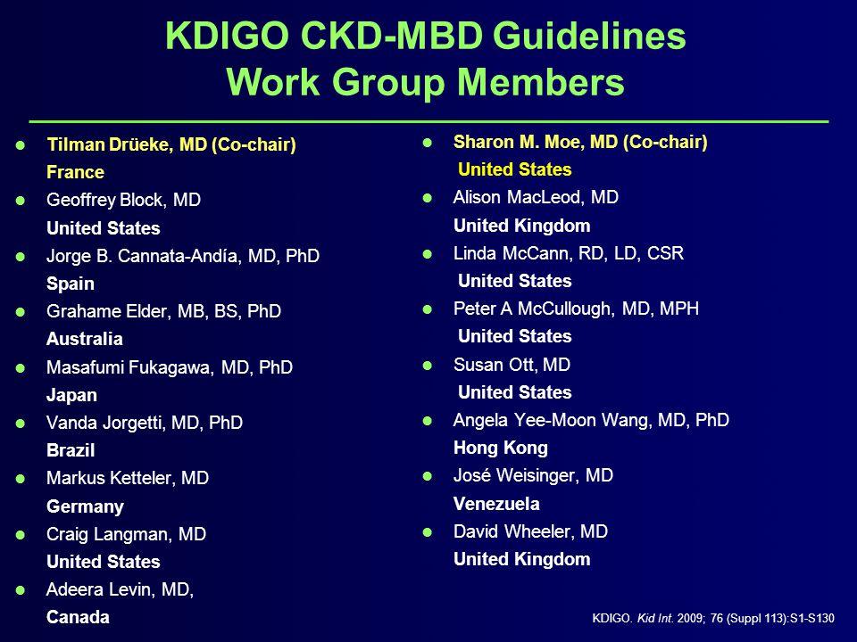 Key Categories in KDIGO Diagnosis/Evaluation Treatment Vascular Calcification