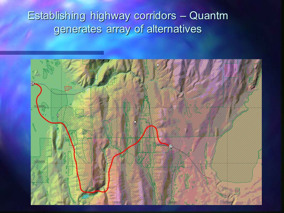 Establishing highway corridors – Quantm generates array of alternatives