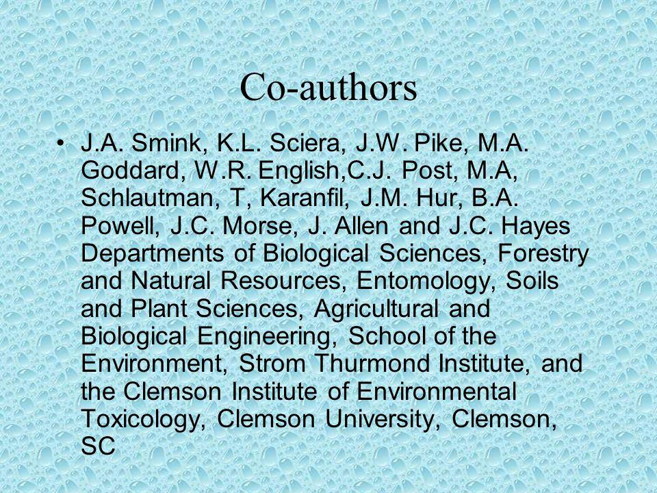 Co-authors J.A. Smink, K.L. Sciera, J.W. Pike, M.A.