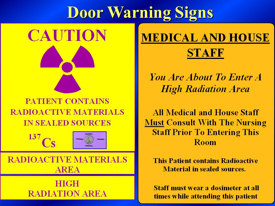 Door Warning Signs