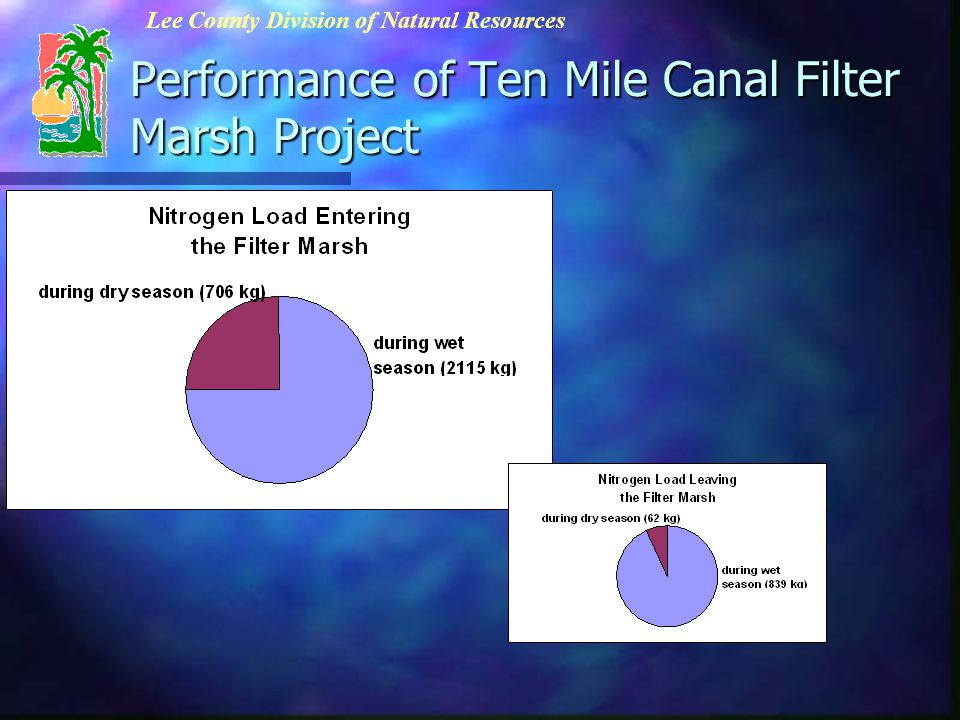 Performance of Ten Mile Canal Filter Marsh Project Lee County Division of Natural Resources