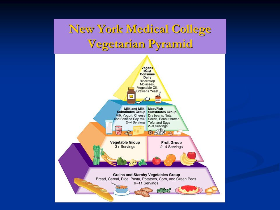 New York Medical College Vegetarian Pyramid
