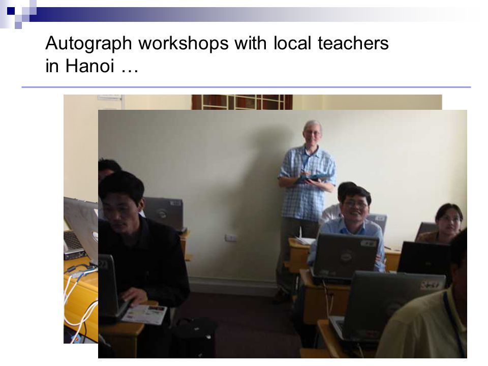 Autograph workshops with local teachers in Hanoi …