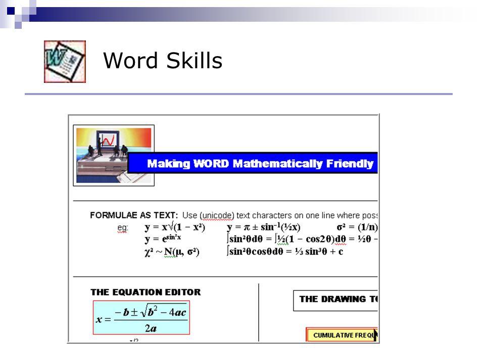 Word Skills