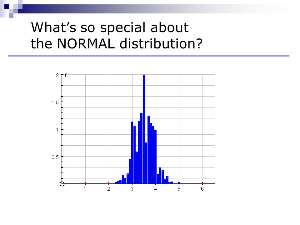 What's so special about the NORMAL distribution?