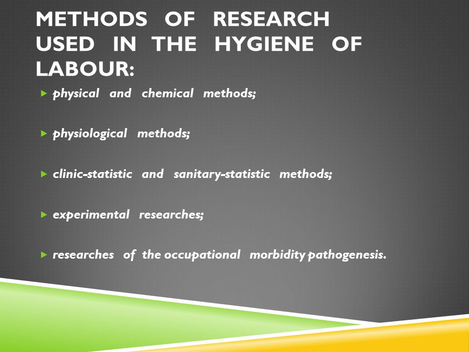 WAYS AND MEASURES TO PREVENT INFLUENCE INDUSTRIAL OF HAZARD ENVIRONMENT ON HUMAN ORGANISM (SLIDE 2 0F 2): 3.