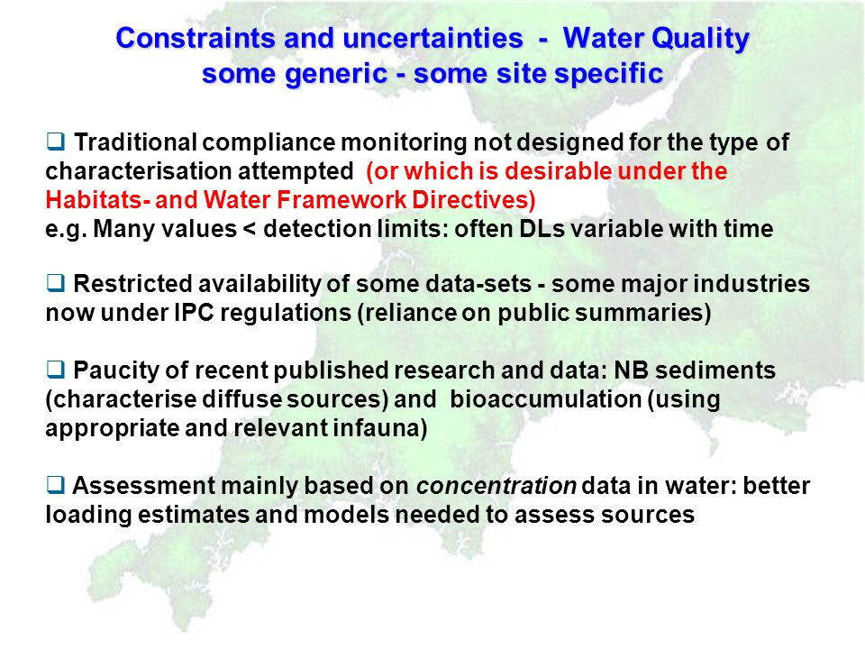 Conclusions and Recommendations Conclusions and Recommendations Reports have provided (for South West EMS Sites) : Characterisation of the South West