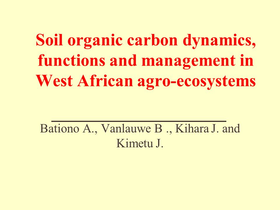 Effect of depth of soil mechanical de-surfacing at Mbissiri, Cameroon