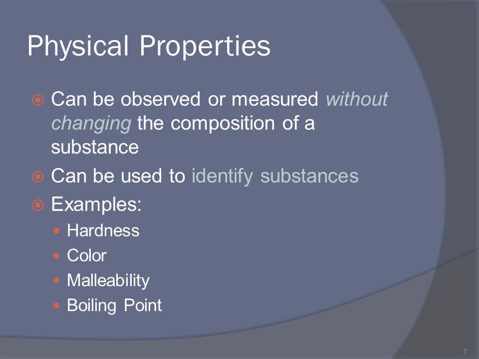 Identifying Substances 8